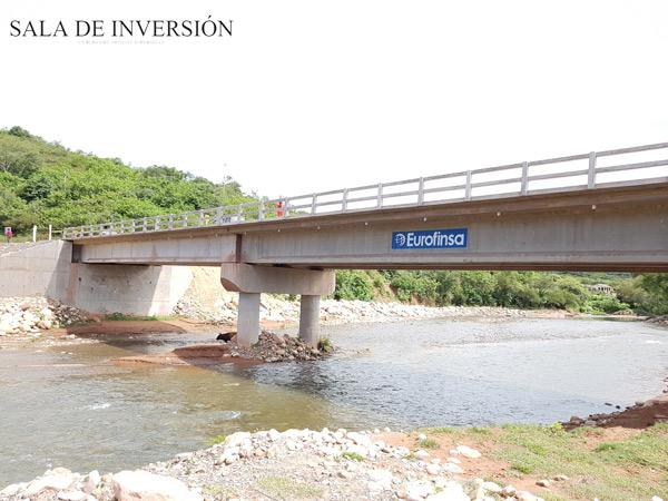 puente construido por eurofinsa en la ruta entre rios-palos blancos